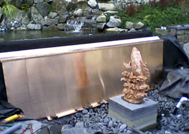 custom copper waterfall